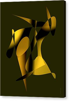 Brown Abstract Art Canvas Print by Mario Perez