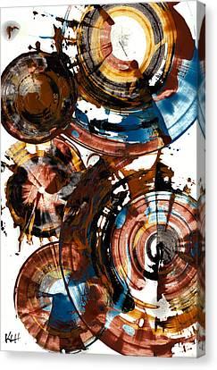 Brown And Blue Spherical Joy - 992.042212 Canvas Print by Kris Haas