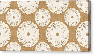 Brown And White Floral Canvas Print by Linda Woods