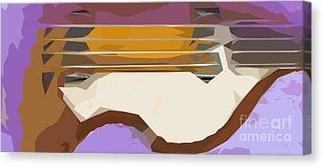 Brown Bass Purple Background 3 Canvas Print