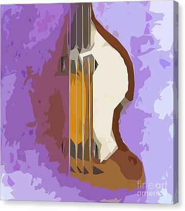 Brown Bass Purple Background 5 Canvas Print