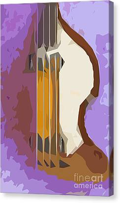 Brown Bass Purple Background Canvas Print