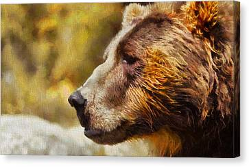Brown Bear Painting Canvas Print by Dan Sproul