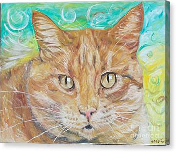 Brown Cat Canvas Print by PainterArtist FINs husband Maestro