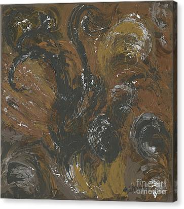 Brown Color Of Energy Canvas Print by Ania Milo