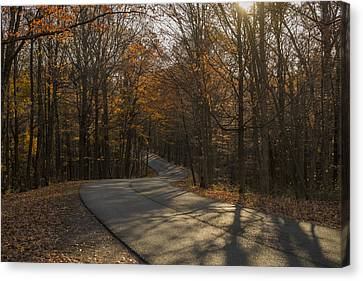 Brown County State Park Nashville Indiana Road Canvas Print by David Haskett