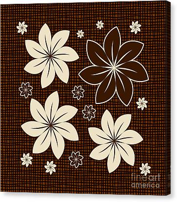 Brown Floral Design Canvas Print by Gaspar Avila
