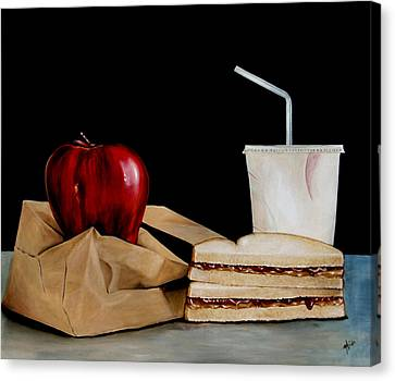 Brown Lunch Bag Canvas Print by Michelle Iglesias