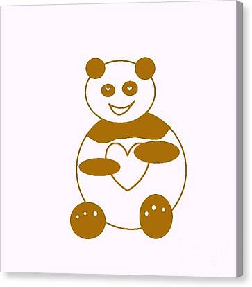 Brown Panda Canvas Print by Ausra Huntington nee Paulauskaite