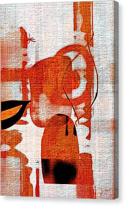Brown Weave Abstract Canvas Print by Allen Beilschmidt