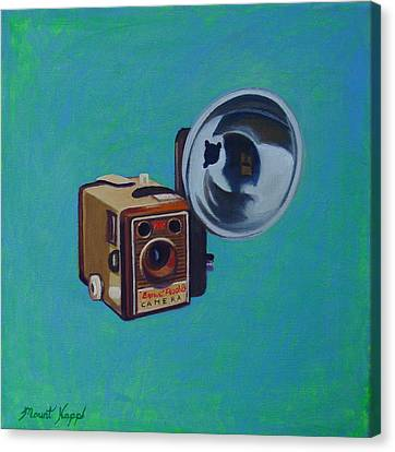 Brownie Box Camera Canvas Print by The Vintage Painter