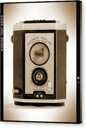 Classic Camera Canvas Print - Brownie Reflex by Mike McGlothlen