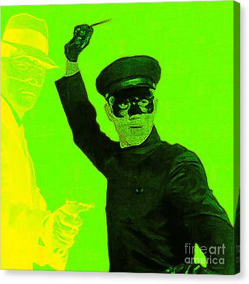 Kitschy Canvas Print - Bruce Lee Kato And The Green Hornet - Square P54 by Wingsdomain Art and Photography