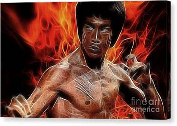Bruce Lee Canvas Print by Doc Braham