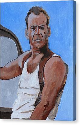 Bruce Canvas Print by Robert Bissett