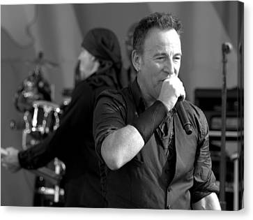Bruce Springsteen 10 Canvas Print by William Morgan