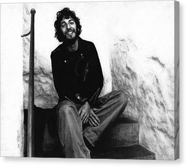 Bruce Springsteen 1975 Canvas Print by Justin Clark