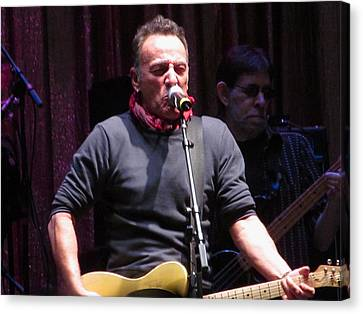 Bruce Springsteen At Light Of Day Canvas Print