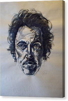 Bruce Springsteen Canvas Print by Dan Engh
