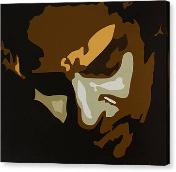 Bruce Springsteen Canvas Print by Dennis Nadeau
