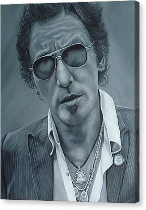 Bruce Springsteen IIi Canvas Print by David Dunne