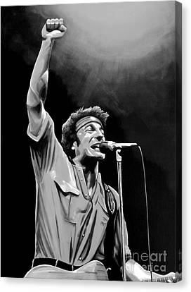 Dancing Canvas Print - Bruce Springsteen by Meijering Manupix