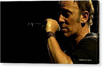 Bruce Springsteen Performing The River At Glastonbury In 2009 - 3 Canvas Print