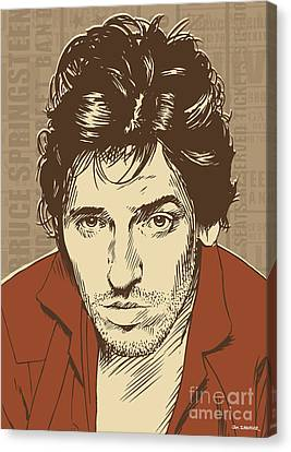 Bruce Springsteen Pop Art Canvas Print by Jim Zahniser