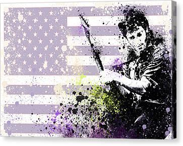 Bruce Springsteen Splats Canvas Print