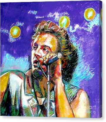 Bruce Springsteen Canvas Print by Stan Esson