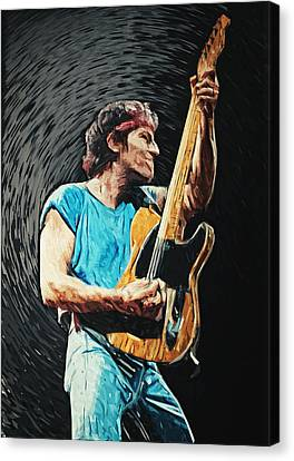 Bruce Springsteen Canvas Print by Taylan Apukovska