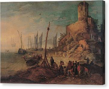 Bruegel Jan The Younger, Sea Landscape Canvas Print by Everett