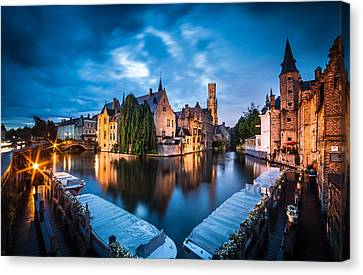 Bruges Night Canvas Print