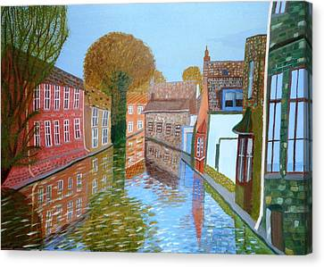 Brugge Canal Canvas Print