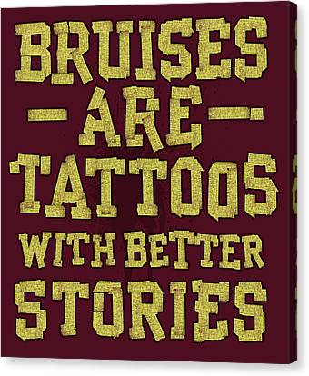 Bruises Are Tattoos Canvas Print by Jim Baldwin
