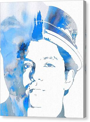Puerto Rico Canvas Print - Bruno Mars Blue Watercolor by Dan Sproul