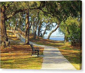 Canvas Print featuring the photograph Brunswick Town by Cynthia Guinn