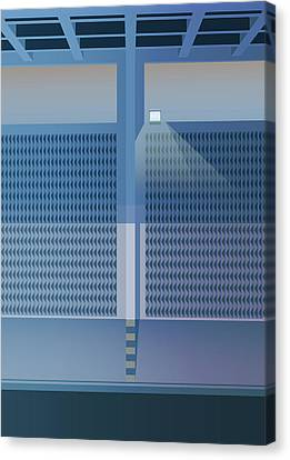 Brutalist Car Park Canvas Print by Peter Cassidy