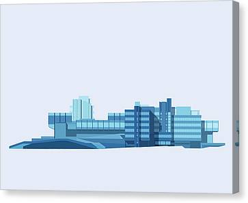 Brutalist Sphinx Canvas Print by Peter Cassidy