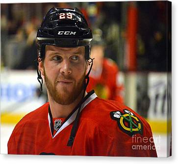 Canvas Print featuring the photograph Bryan Bickell by Melissa Goodrich