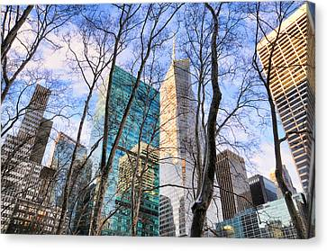 Bryant Canvas Print - Bryant Park Tree Tops by Diana Angstadt