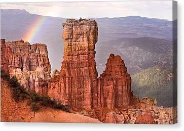 Bryce Canyon In Rain Canvas Print