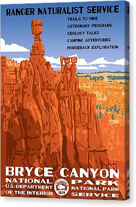Bryce Canyon National Park Vintage Poster 2 Canvas Print