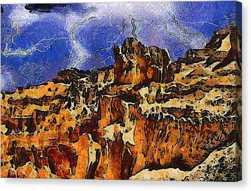 Lightning D Canvas Print - Bryce Canyon Thuderstorm by Dan Sproul