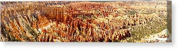 Canvas Print featuring the photograph Bryce Canyon Utah Panoramic by Kathy Churchman
