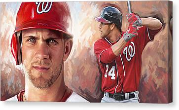 Bryce Harper Artwork Canvas Print by Sheraz A