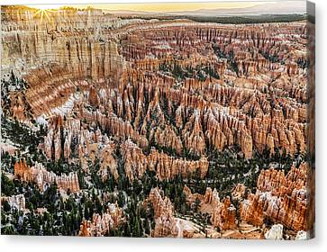 Bryce Point Sunset Canvas Print by Harry H Hicklin