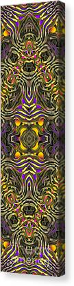 Abstract Rhythm - 35 Canvas Print by Hanza Turgul