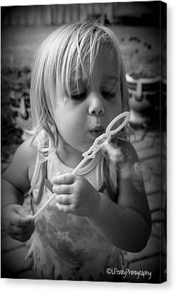 Canvas Print featuring the photograph Bubble Fun by Laurie Perry