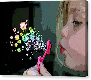 Bubble Magic Canvas Print by Ellen Henneke